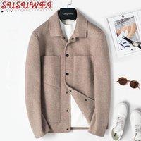 Männer Jacken Frühling Wollmantel Kurze Schwarze Schwarze Jacke Mann Koreanische Mode Woolen Mantel Chaquetas Hombre 2A3829 KJ4303 9A97