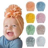 20 Colors Cute Baby Hat Infant Toddler Girl Boy Big Flower Indian Turban Headwrap Beanie Kids Caps Newborn Floral Hat