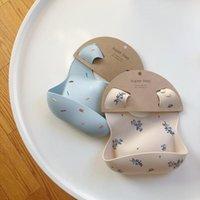 Bibs & Burp Cloths Ins Style Print Baby Waterproof Soft Silicone Feeding Stuff Cute Pattern Kids Girl Boy Toddler Adjustable Children Bib