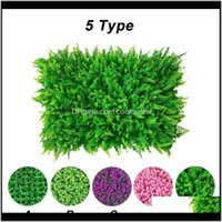 Decorative Flowers Wreaths Festive Party Supplies Home & Drop Delivery 2021 5 Type Mat Artificial Lawn Fake Grass Rug Indoor Outdoor Decorati
