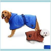 Pet Supplies Home & Gardenpet Dog Towel Bathrobe Super Absorbent Microfiber Bath Towels Quick-Drying Cat Grooming Drop Delivery 2021 Kifmb