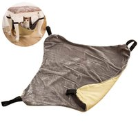 Pet Hammock Canvas Hanging Mat Soft Cat Bed With 4 Anti-slip Rings For Cats Rodents Hamster Accessories Beds & Furniture