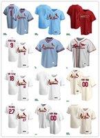 Hombres Mujeres Juveniles 9 Terry Pendleton 27 Placido Polanco 18 Andy Van Slyke 1 Ozzie Smith Jersey de béisbol personalizado en blanco Rojo Rojo Blanco Beige