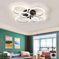 Chandeliers Black Gold Modern Led Chandelier For Living Room Bed Study Simple Lighting Round Lampadario Light Fixtures