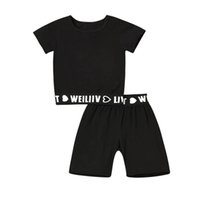 Baby Clothing Sets Boy Suit Boys Outfits Casual Children Kids Summer Cotton Short Sleeve T-shirts Shorts Pants 2Pcs Tracksuit B5262