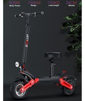 12 Inch Off Road Electric Scooter 2 Wheels 48V 500W EScooter Range 150KM Double Suspension Adult Kick