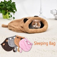 Cute Cat Sleeping Bag Warm Dog Bed Pet House Lovely Soft Mat Cushion High Quality Products Design 4Colors H0929