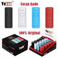 Authentische Yocan Kodo Elektronische Zigaretten-Kit Vorheizvariable VV Variable Spannung 400MAH VAPE Batteriebox Mod Fit Alle 510 Gewindekassette Vollständig in 30 min