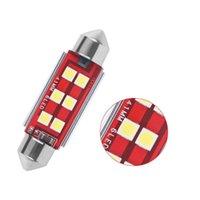 1X 자동차 높은 밝은 LED Festoon 전구 C5W C10W 4 / 6smd 캔버스 없음 오류 31 / 36 / 39 / 41mm 자동 인테리어 LED 돔 조명 화이트 12V 다이오드