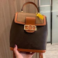 2021 Wholesale Unisex Backpack Handbag Shoulder Bag Fashion Flower Pattern Letter Zipper Leisure Style Rivet High Quality