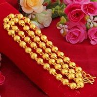 Vietnam Alluvial Gold Halskette Herren 24k Thailand Daikin Kette Simulation Frosted Solid Light Perlen Gold Chunky Halskette