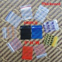 100 шт. Mini zip Блокировка Сумки дешевле Маленькая пластиковая сумка на молнии Сумка Ziplock Сумка пластиковая упаковочная сумка для зацикливания Упаковочные пакеты