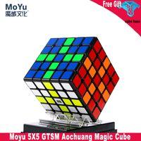 Moyu Aochuang GTS 5 My 5x5 GTS Puzzle de velocidad magnética PROFESIONAL GTS5M 5x5x5 Magic Cubing Speed Twist Juguetes educativos