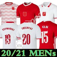 2021 2022 Polska Soccer Jersey Home Away 20 21 22 أحمر أبيض 2021-22 ميليك بو Lewandowski Piszczek Land Jerseys كرة القدم قبل مباراة القمصان