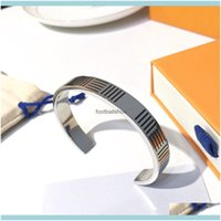 Cuff Chain Bracelet Fashion Bracelets Simplicity Niche Design For Man Woman Jewelry Stainless Steel Fresh Pattern Personality Advanced Drop