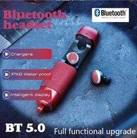 Nuevo Modle VJ212 TWS Auricular inalámbrico Bluetooth v5.0 con cáscara de metal DOS y un sonido estéreo de tela con un paquete minorista de micrófono