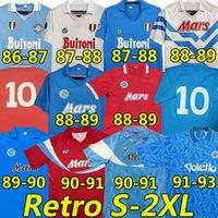 1987 1988 Napoli Retro Fussball Trikots 87 88 COPPA Italia SSC Napoli Maradona 10 Vintage Calcio Napoli Kits Classic Vintage Neapolitan 21/22 Halloween Football Jersey