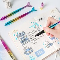 Novelty Ballpoint Pen Stationery School Office Supplies Fashion Kawaii Color Mermaid Student Writing Gift