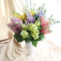 Зинмоль 7 филиалов / букет искусственный гиацинт фиолетовый цветок поддельных шелковых марок рождения вечеринка свадебный цветочный домашний декор декоративные цветы