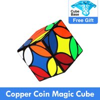 QIYI 구리 동전 매직 큐브 3x3x3 부드러운 불규칙한 속도 퍼즐 Mofangge 고대 동전 Cubo Magico 어린이 교육 완구