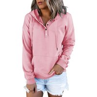 Women's Hoodies & Sweatshirts Women Solid Color Sweater, Adults Casual Long Sleeve Hooded Sweatshirt With Drawstring, Pocket