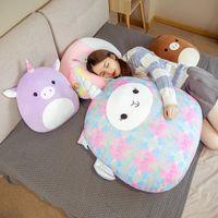 귀여운 뚱뚱한 봉제 장난감 동물 인형 Kawaii 유니콘 사슴 돼지 소프트 베개 친구 인형 쿠션 발렌타인 데이 선물 25cm