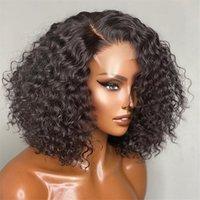 Jerry Curly Short Bob 4x4 Lace Closure Human Hair Wigs Brazilian Kinky Curly Bob Wig 13x4 Lace Frontal Human Hair Wigs