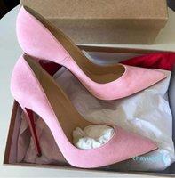 Sapatos de vestido feminino clássico bombas vermelhas fundo alto salto alto aguçado toe so-kate vermelho-sole high-heeled designers de couro de patente senhora 2021