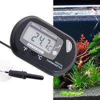 Mini Thermomètre Aquarium Thermomètre Aquarium Thermomètre avec capteur câblée Batterie incluse dans le sac OPP Couleur jaune noir pour option