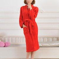 Towel Couple Long Bathrobe Men Women Warm Soft Plush Coral Velvet Sleepwear Bath Robe Home Bathroom TY53
