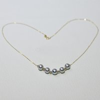Necklaces Nymph Real 18k Gold Necklace for Women Pure Au750 Chain Natural Akoya Seawater Pearl Female Party Fine Jewelry X531