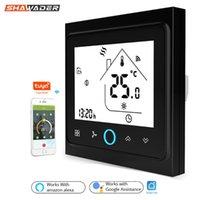 スマートホームコントロール2/4パイプWifiエアコンサーモスタット温度電動バルブコントローラファンコイルユニット無線リモートAlexa Google