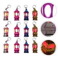 Flashlights Torches 40Pcs Muslim Ramadan Lantern Key Chain Ring Pendants Charm With LED Light