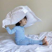 Clothing Sets Boys Girls Baby Pajamas Set 2021 Autumn Winter Kids Clothes Underwear Korean Home Cotton Plaid Children'S Suit