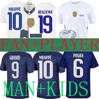 2021 Fransa Futbol Formaları Benzema MBappe Griezmann POGBA 21 22 Ulusal Takım Final Francia Maillot De Ayak Varane Futbol Gömlek Kante Fanlar Oyuncu Sürüm Çocuklar