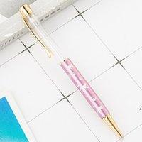 Различный цвет мультфильм diy пустые трубки металлические шариковые ручки студент писать подарок самозависимый плавательный блеск кристаллическая ручка dwe5783