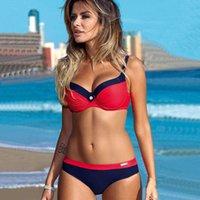 YICN Yeni Kadın Spor Seksi Bikini Setleri Plaj Oyunu Mayo Mayo Brezilyalı Bikiniler Push Up Sutyen Mayo