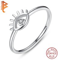 Cluster Rings Authentic 100% 925 Sterling Silver CZ Eye For Women Ladies Dazzling Cubic Lucky Finger Ring Jewelry Wedding Gift