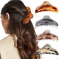 Hair Accessories Leopard Large Size Claw Clips Women Ponytail Barrette Crab Bath Hairpins For Girls Fashion Headdress
