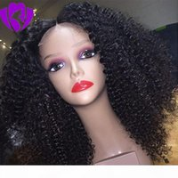 Hotselling Short Afro Kinky Curly Synthetic Wigs For Black Women 180density lace front Natural Hair Wigs with baby hair blenched knots