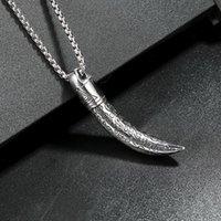 Pendant Necklaces Men Necklace & Pendants Crescent Shape Titanium Steel Material Chain Trend Unique And Cool Boy Neck Decoration Eye Of Prov