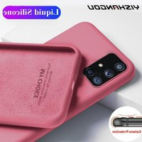 Soft liquid Silicone Case For Samsung Galaxy A51 A71 A50 S20 Ultra S10 Plus S10e Note 20 10 Lite S9 s21 FE A52 A72 Coque cover
