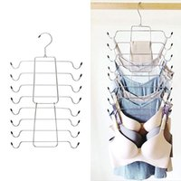 Support Hangers Multi-layer Foldable Underwear Camisole Storage Rack Multi-function Magic Hanger Drying Party Favor