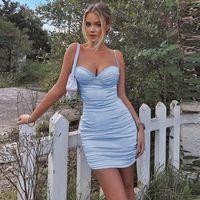 Günlük Elbiseler Sevimli Tatlı Dantel Mor Ekose Kayışı Kadınlar Yaz Moda Seksi Parti Doğum Günü Yumuşak Pamuk Mini Bodycon Elbise