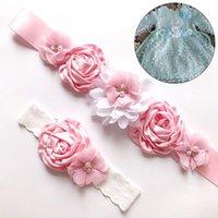 Belts Fashion Luxury Beaded Pearls Handmade Flower Applique Wedding Sashes Bridal For Dresses Sash Satin Ribbon Belt