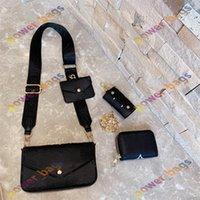 Designer Donne Lvlouis Borsa Lusurys Set borse in 3 pezzi Borse di alta qualità in stile di alta qualità in vita Borse a portata di mano Portafogli Designer Leathers Crossbody Tote con catena di spalla