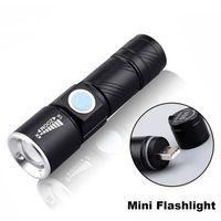 LED mini lanterna xpe chip portátil tocha à prova d 'água impermeável USB recarregável built-in built-in caminhadas pesca camping luz