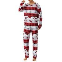 Men's Sleepwear Sleep Clothes Casual Nightie Man Pyjamas Suit 2021 Christmas Pajamas Men Long Sleeve Pijama Set For Male Plus Size 3XL