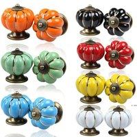 4 * 4 * 4 cm Cabinas de cocina Perillas Dormitorio Dormitorio Cajones 7 colores Puerta de cerámica Pull HWD6400