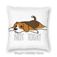 Cushion Decorative Pillow Funny Not Today Beagle Dog Black Throw Pillows Covers Cases Velvet Pillowcase Cushion Pregnancy Travel King Size O